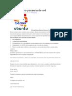 Ubuntu Como Pasarela de Red