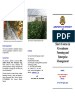 Greenhouse Management and Enterprise Brochure