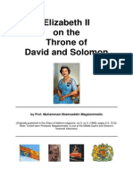 Elizabeth II on the Throne of David and Solomon