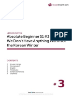 Absolute Beginner Korean Season 1 L 3