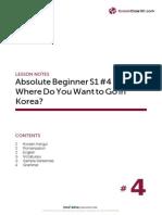 Absolute Beginner Korean Season 1 L 4