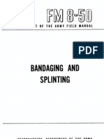 FM 8-50 Splints and Bandages