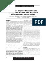 vacations improve mental health in rural women