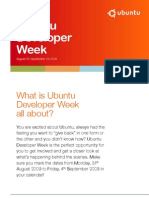 Ubuntu Developer Week4