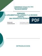 Pontificia Universidad Católica del Perú - Instituto Riva-Agüero - La argumentación jurídica y la