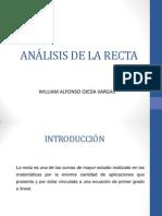 ANÁLISIS DE LA RECTA