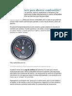 Cómo conducir para ahorrar combustible y Ficha tecnica Mazada 3 2.0 sport