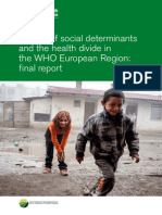 WHO (OMS) Review of Social Determinants and the Health Divide in the WHO European Region Final Report Eng