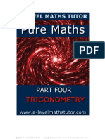 E-Book 'Pure Maths Part Four Trigonometry' from A-level Maths Tutor