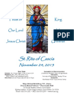 St. Rita Parish Bulletin 11/24/2013