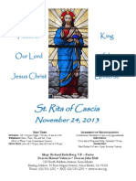 St. Rita Parish Bulletin 11/24/2013