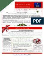 Nativity Scene Newsletter December 2013
