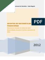 Apuntes de Matemáticas Financieras