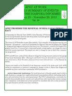Diaspora News - November 23 - November 29, 2013