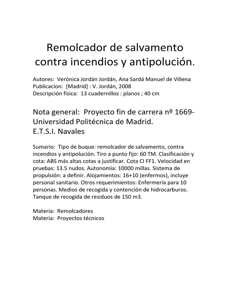 Remolcador de Salvamento Contra Incendios y Antipolucion