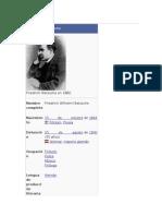 Friedrich Nietzsche. Biografía