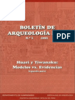Boletin de Arqueologia PUCP No. 05 (2001) Número 05. Huari y Tiwanaku modelos vs. evidencias. Segunda parte 2