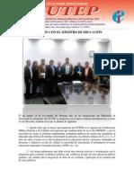 Acuerdos de reunión sostenida con el Ministro Jaime Saavedra