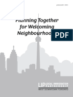 Toronto 2011 Planning Together Welcoming Neighbourhoods
