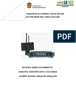Manual para compartir el internet con el router inalámbrico por medio del cable CRUZADO