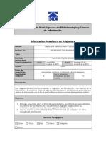 Informacion Asignatura Universitaria 2012