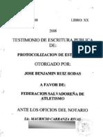 Estatutos Federación Salvadoreña de Atletismo.pdf