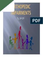 orthopedic impairments presentation