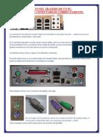conectores del panel trasero de un pc