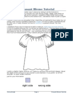 Adult-Size Peasant Blouse Tutorial