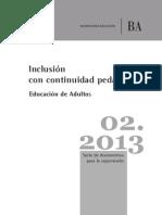 Ed,Adultos - Inclusion Con Continuidad Pedagogica