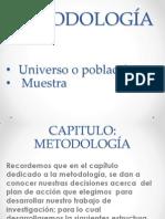 METODOLOGÍA población muestra