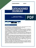 Especificaiones Tecnicas