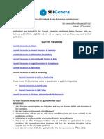 SBI Job Notification - Various Vacancies