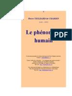 Le phenomene humain - Pierre Teilhard de Chardin