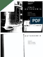 1980 Autonomia Post Political Politics