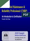 141 krings 5pillarscmrp certified reliability engineer