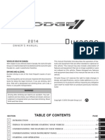 2014 Dodge Durango User Manual