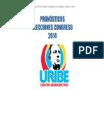 Pronósticos de Uribe centro Democrático a Senado 2014-2018