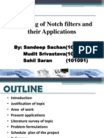 Notch Filter design aptitude