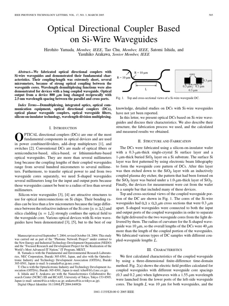 optical directional coupler   Polarization (Waves)   Optics