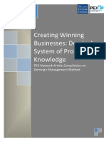 Creating Winning Businesses - Deming's System of Profound Knowledge