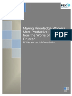 Making Knowledge Workers More Productive - Insights From the Works of Peter F. Drucker