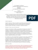 Nueva Ley Organica de Educacion 2009