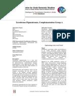 Xeroderma Pigmentosum, Complementation Group A