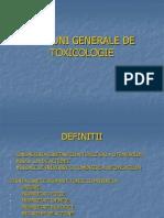 Notiuni Generale de Toxicologie