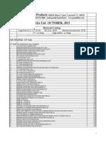 2013 Pricelist