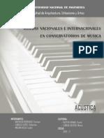 Normas Nacionales e Internacionales en Conservatorios de Musica