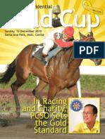 PCSO 2010 Presidential Gold Cup Souvenir Magazine