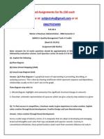 QM0013–Quality Management Tools
