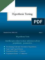 Hypothesis Testing - 1